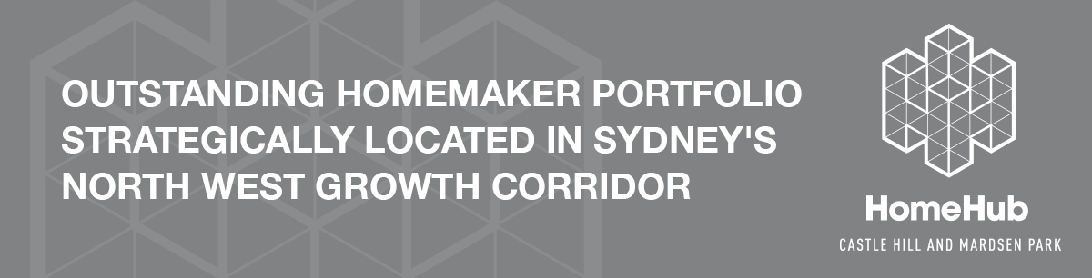 Outstanding Homemaker Portfolio strategically located in Sydney's North West growth corridor